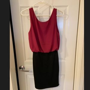 S Everly Maroon and Black Dress